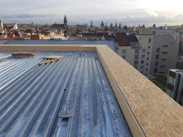 Dodávka nové skladby střech a teras na nástavbě hotelu President. Celková velikost skladby 1200 m2. Realizována byla parozábrana z asfaltového pasu, zateplení včetně spádů. Použitá hydroizolační fólie PVC Sikaplan 15 VG…