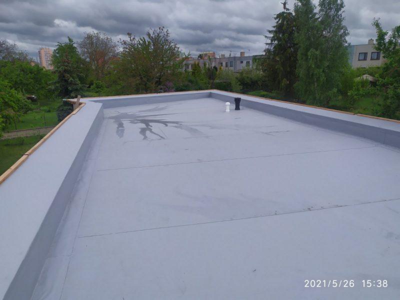 dodávka skladby ploché střechy rodinného domu