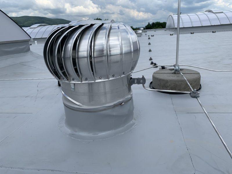 hydroizolace ploché střechy halového objektu